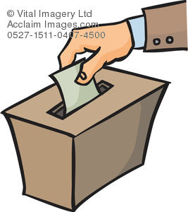 A stock photography acclaim. Voting clipart person