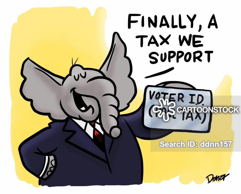 Voting clipart poll tax. Cartoons and comics funny