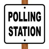 Voting clipart polling booth. Vote x free clip