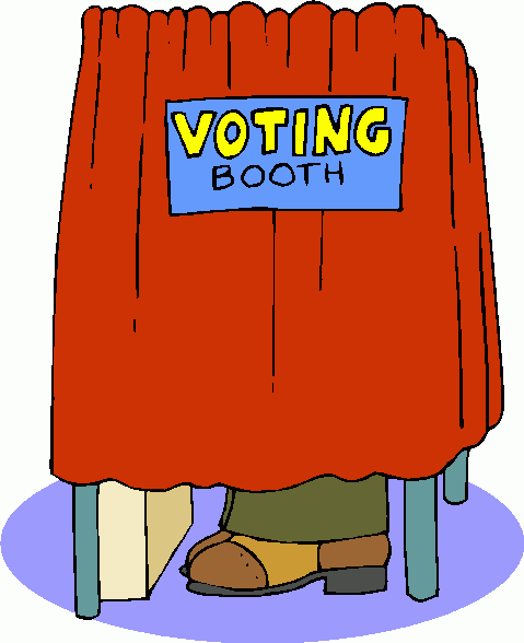 Voting clipart polling booth. Free vote download clip