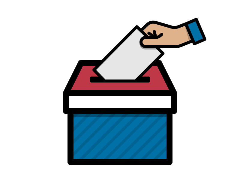 Voting clipart raffle box. Ballot by grant fisher
