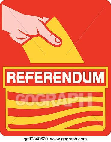 Vector illustration in the. Voting clipart referendum