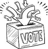 Voting clipart sketch. Ballot box panda free