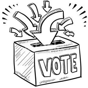 Ballot box premium clipartlogo. Voting clipart sketch