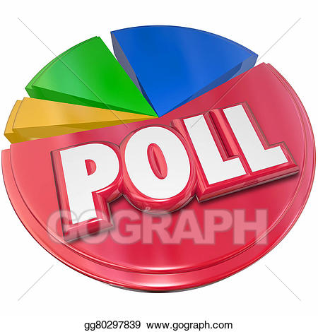 Stock illustration poll results. Voting clipart survey
