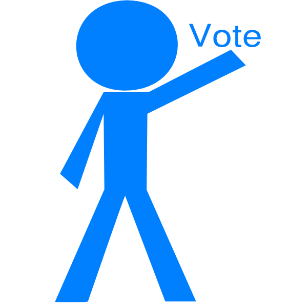 Electoral specialist stick figure. Voting clipart vector