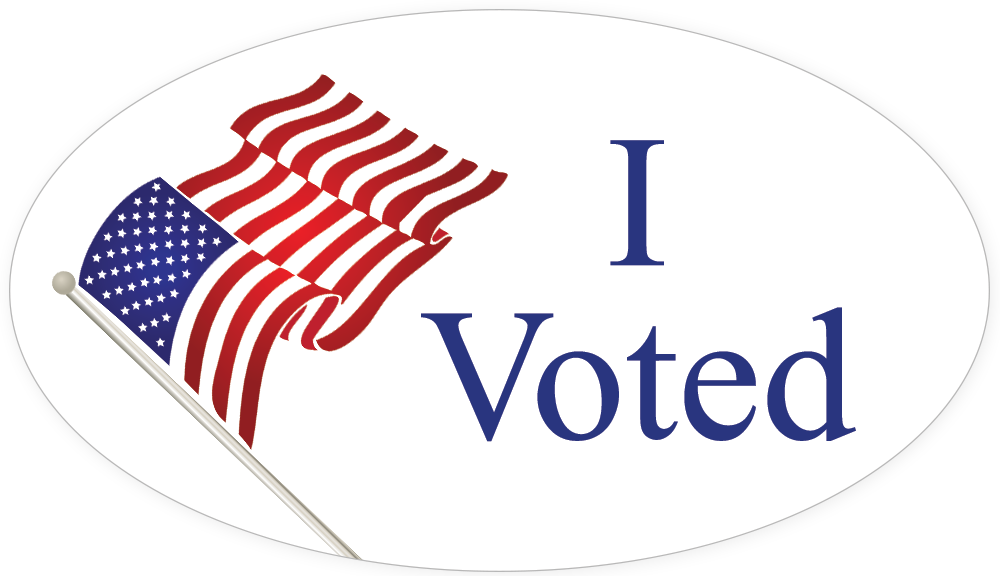 Voting clipart voted sticker. Voter apathy is not