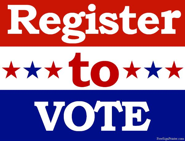 How to for first. Voting clipart voter registration
