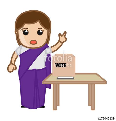 Democratic india woman stock. Voting clipart voting indian