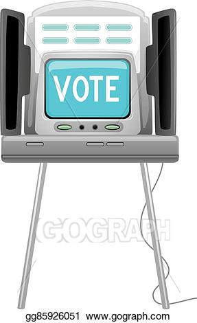 Vector art drawing gg. Voting clipart voting machine