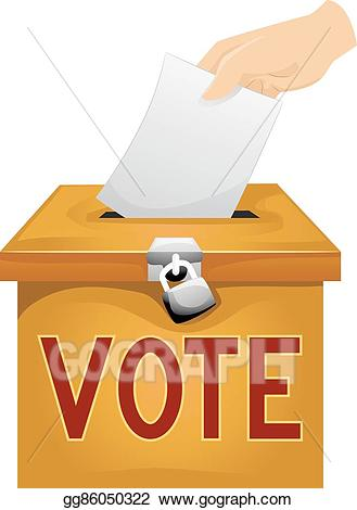Eps vector hand vote. Voting clipart voting paper