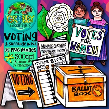 Voting clipart womens suffrage. New zealand woman s
