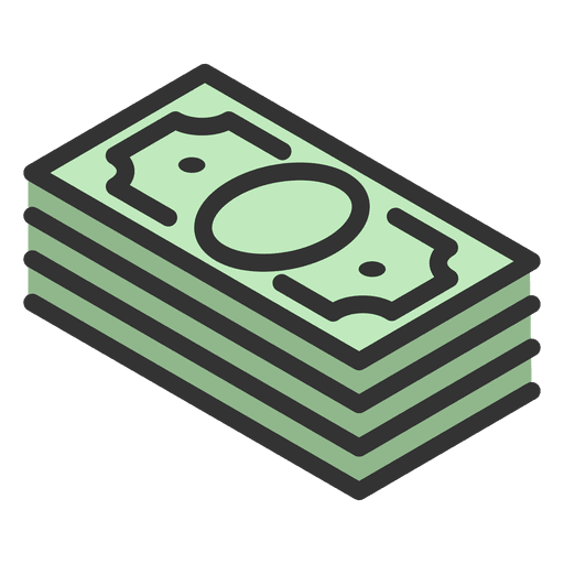 Wad of money png. Transparent svg vector