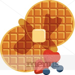 Food graphics . Waffle clipart