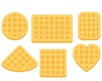 Etsy belgian shapes clip. Waffle clipart