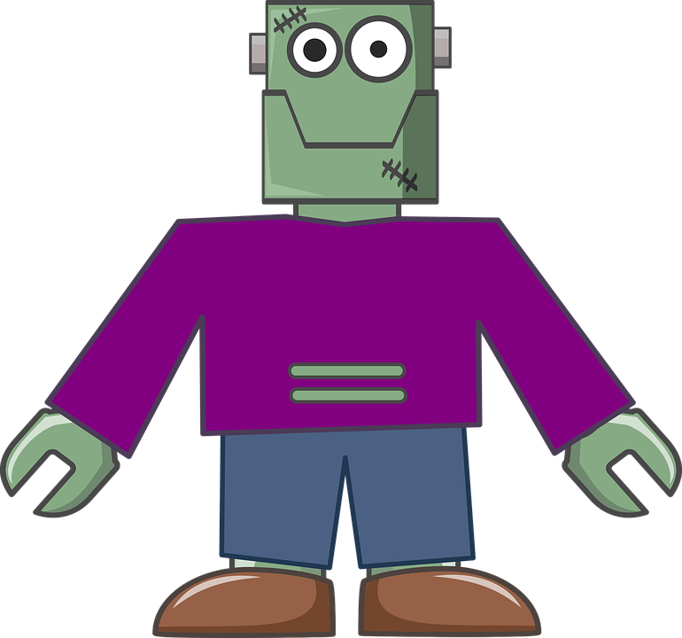 Monster body free on. Waffle clipart animated
