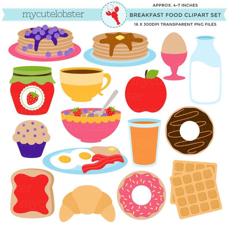 Set clip art of. Waffle clipart breakfast food