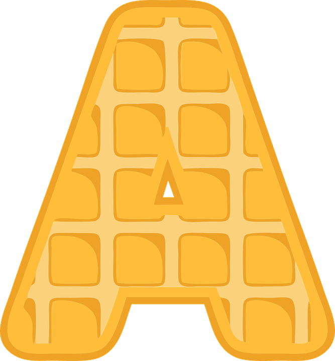 Waffle clipart chocolate waffle. Free photo text alphabet