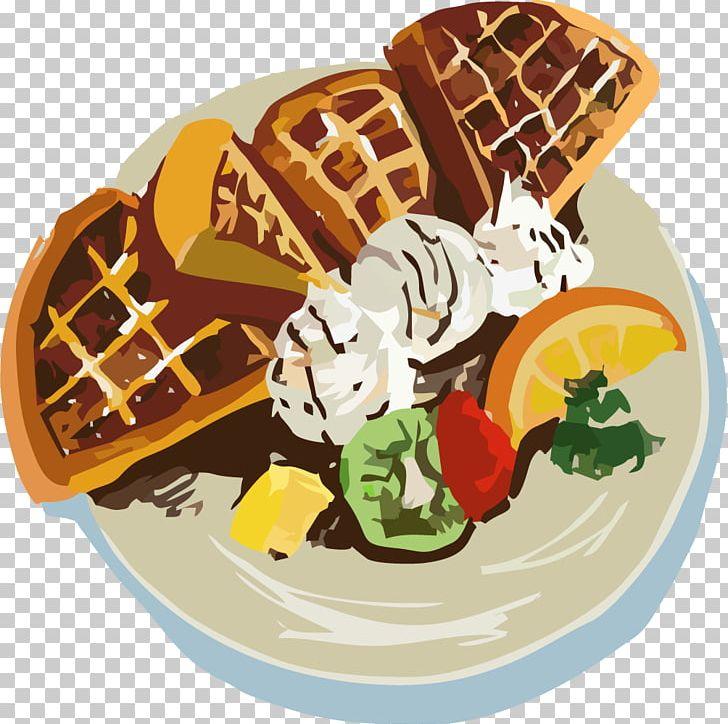 Ice cream belgian cookie. Waffle clipart christmas