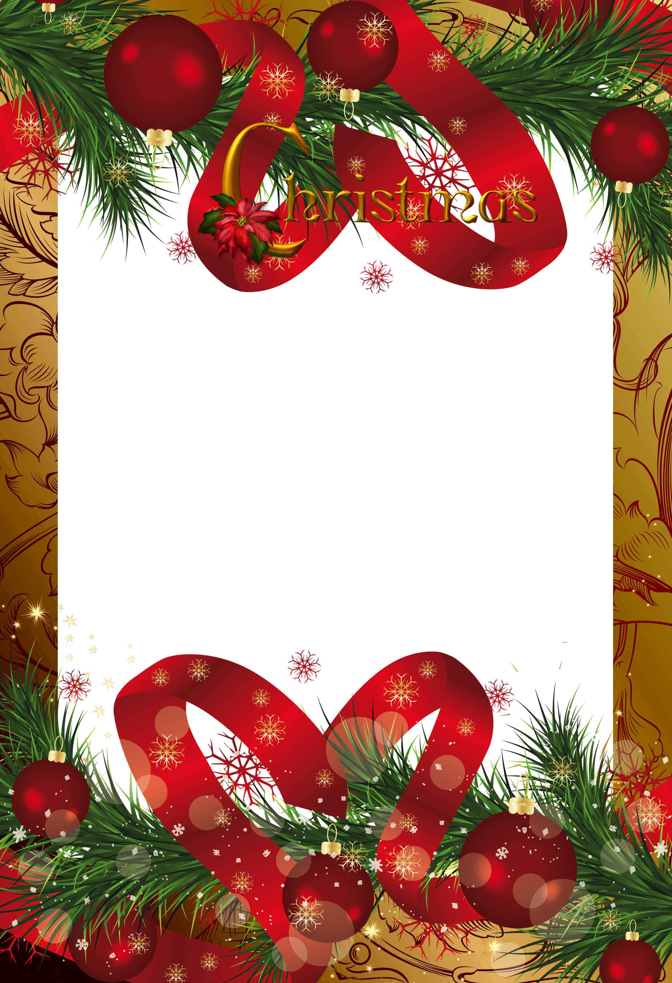 Waffle clipart christmas. Gold frame gallery yopriceville