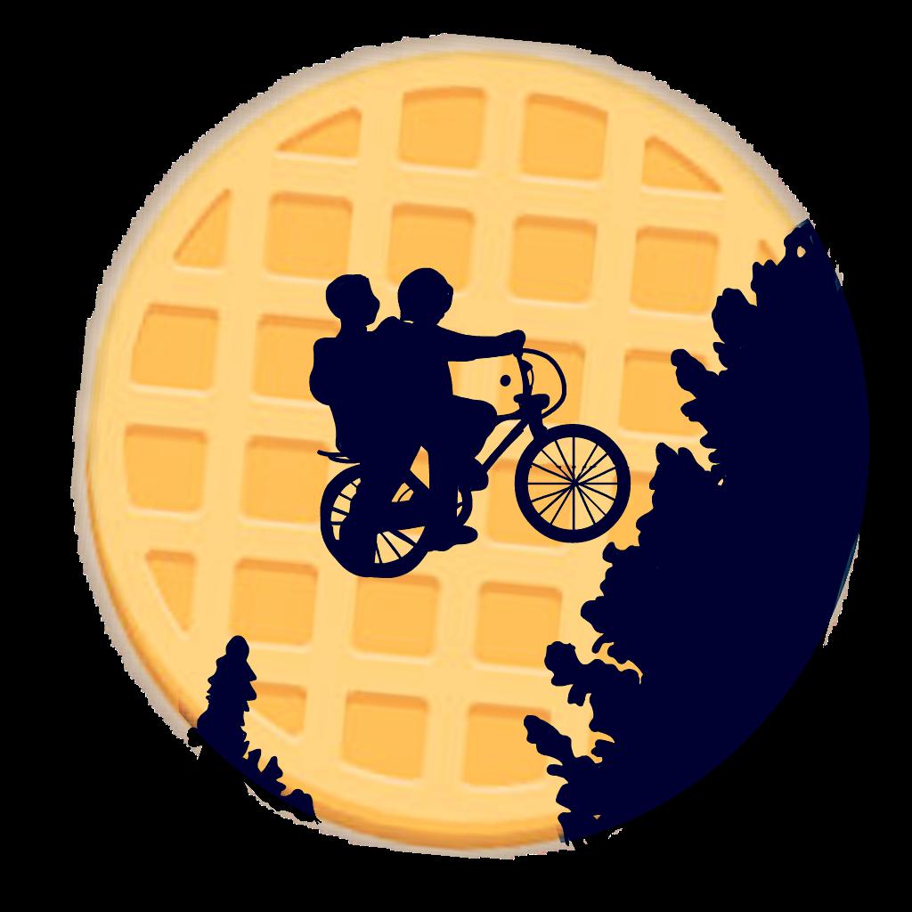 Waffle clipart circle. Strangerthings bikes eleven tumblr