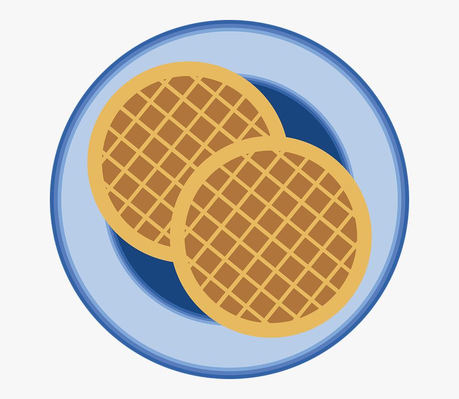 Waffle clipart circle.  h a b