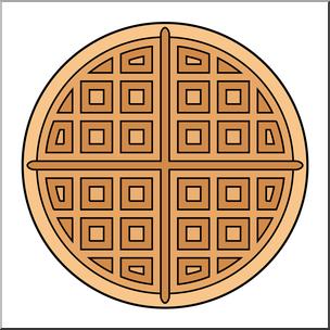 Clip art color i. Waffle clipart circle