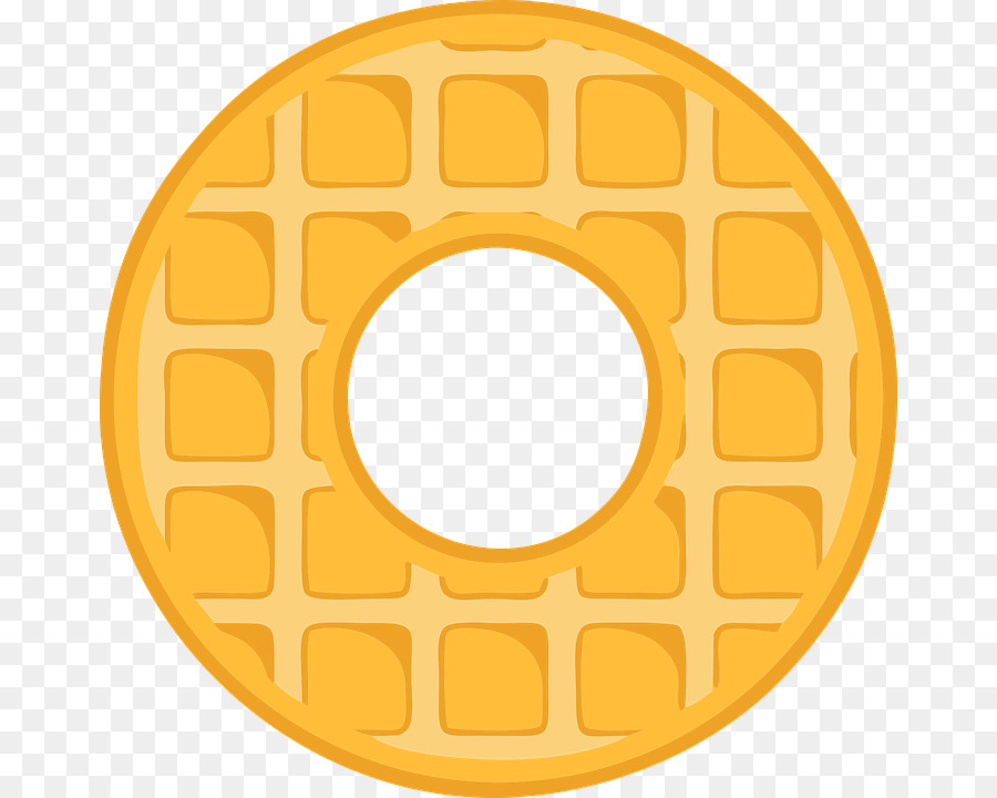 Yellow png download free. Waffle clipart circle