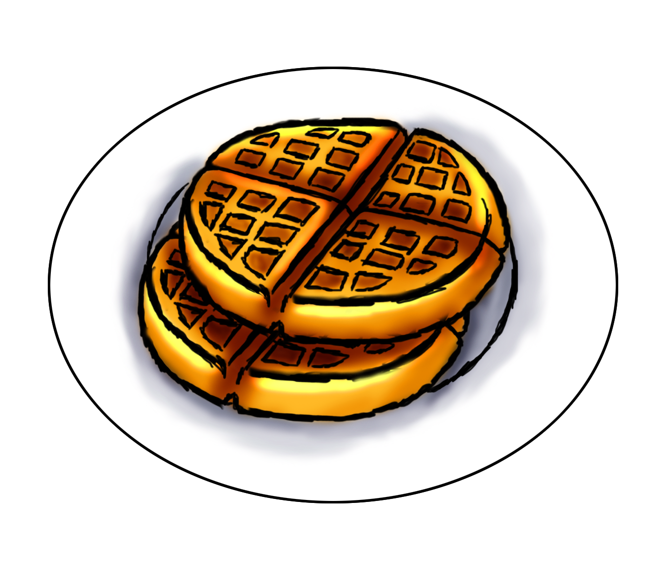 huge freebie download. Waffle clipart circular