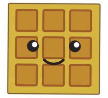 Kawaii google search stickers. Waffle clipart cute