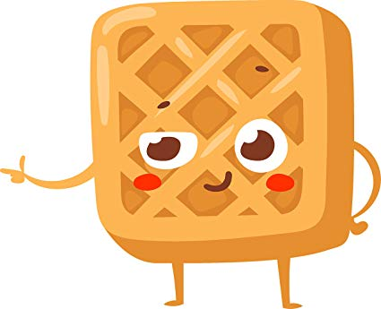 Waffle clipart cute. Amazon com kawaii bakery