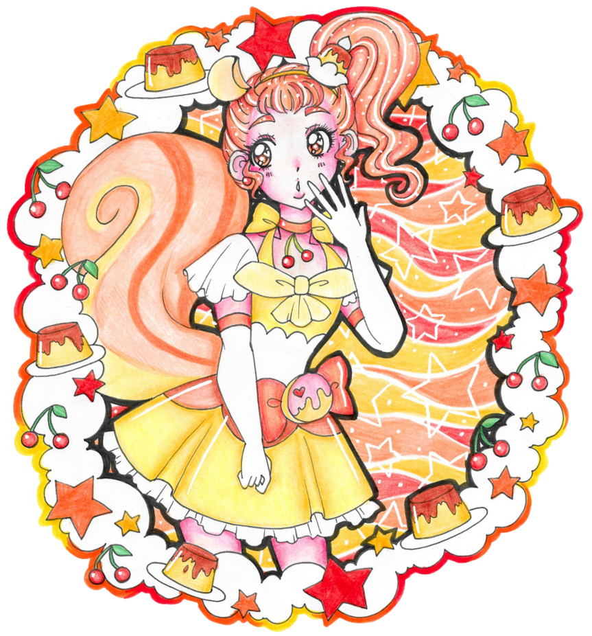Waffle clipart ego. Pretty cure of pudding