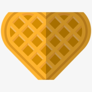 Shaped jacquet free . Waffle clipart heart