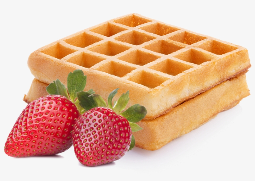 Waffle clipart high resolution. Viennese waffles with strawberry