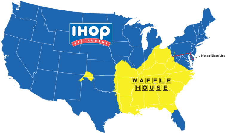 Waffle clipart ihop. Map do you live