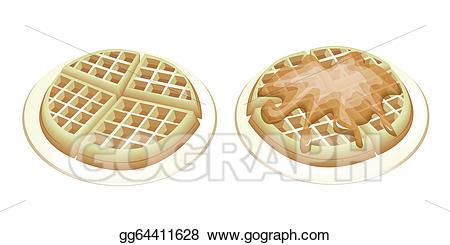 Waffle clipart plain. Clip art vector two