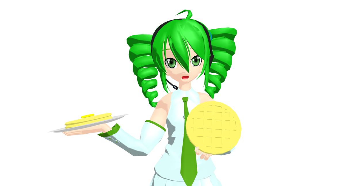 Mmd food of waffles. Waffle clipart plate