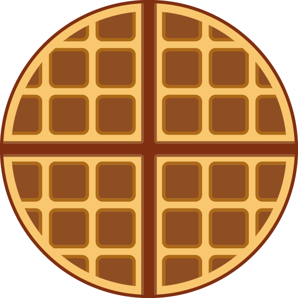 An icon a day. Waffle clipart svg