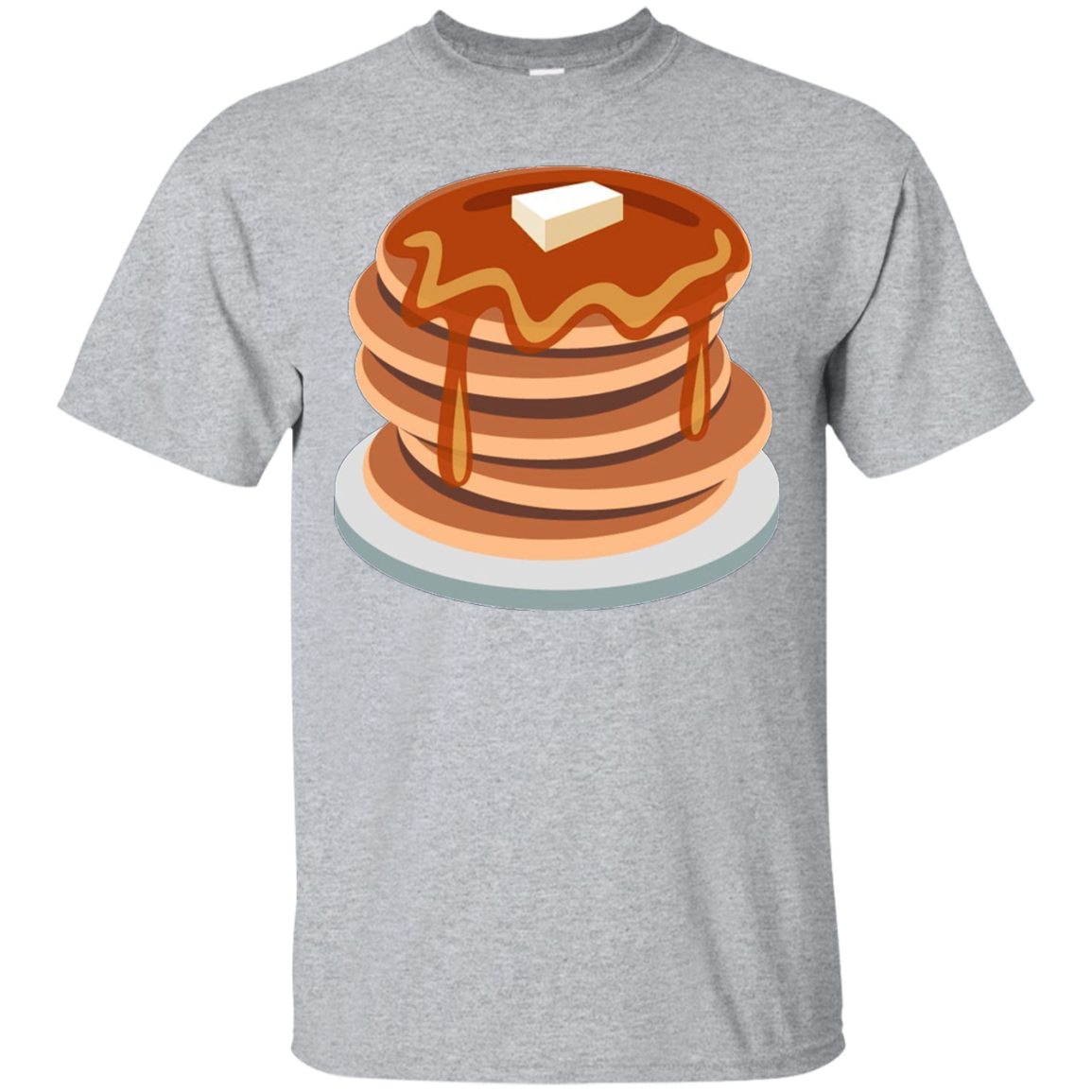 Pancake emoji tshirt breakfast. Waffle clipart syrup butter