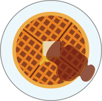 Search results for clip. Waffle clipart syrup butter