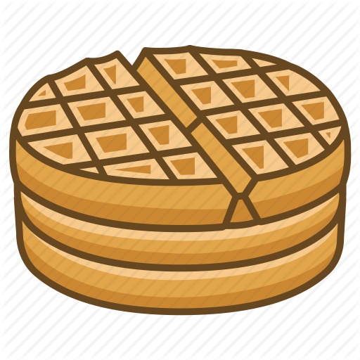 Food cartoon pattern transparent. Waffle clipart waffle breakfast