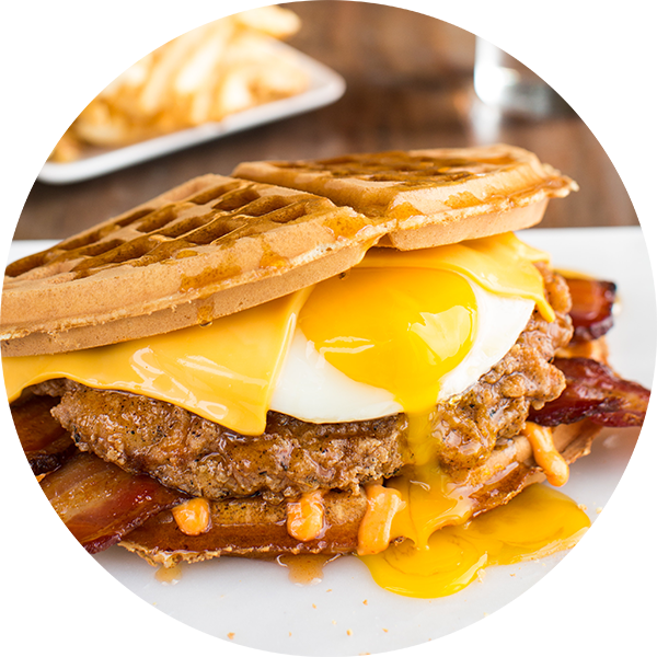 Wild chix waffles savory. Waffle clipart waffle fry