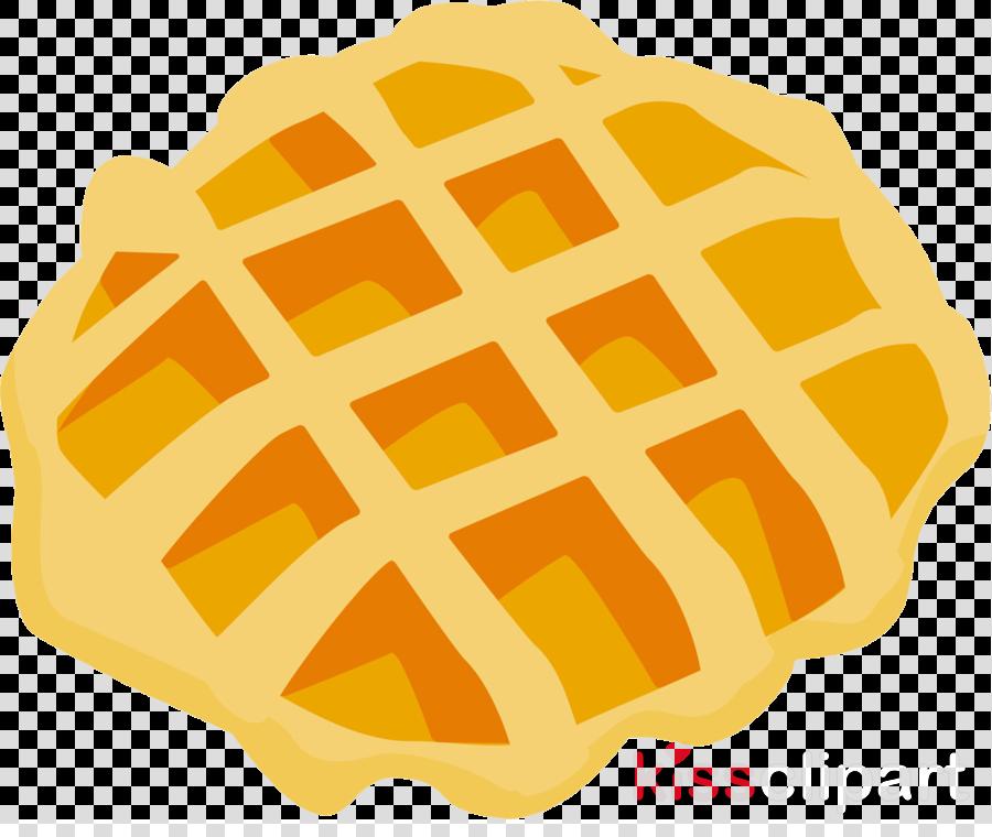 Fruit cartoon illustration orange. Waffle clipart yellow