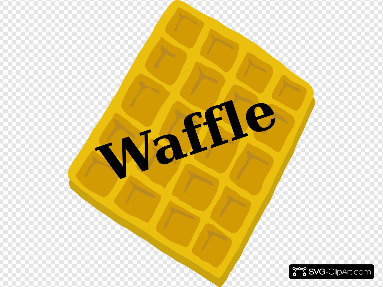 Waffle clipart yellow. Clip art icon and