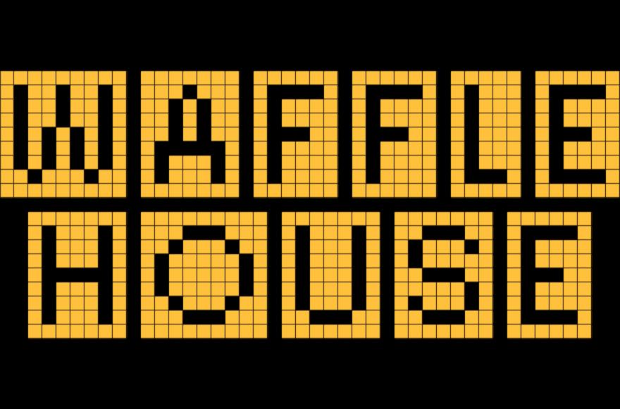 Pixel art brik . Waffle house png