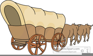 Animated covered free images. Wagon clipart