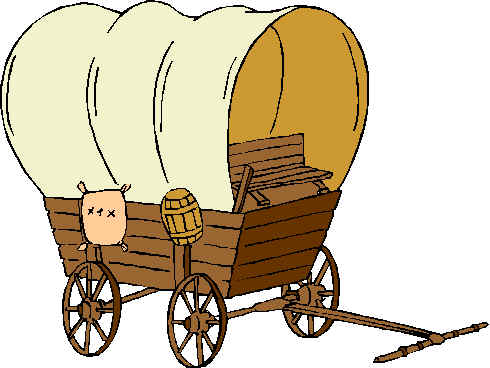 Oregon trail drawing at. Wagon clipart