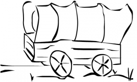 cartoon covered clip. Wagon clipart animated