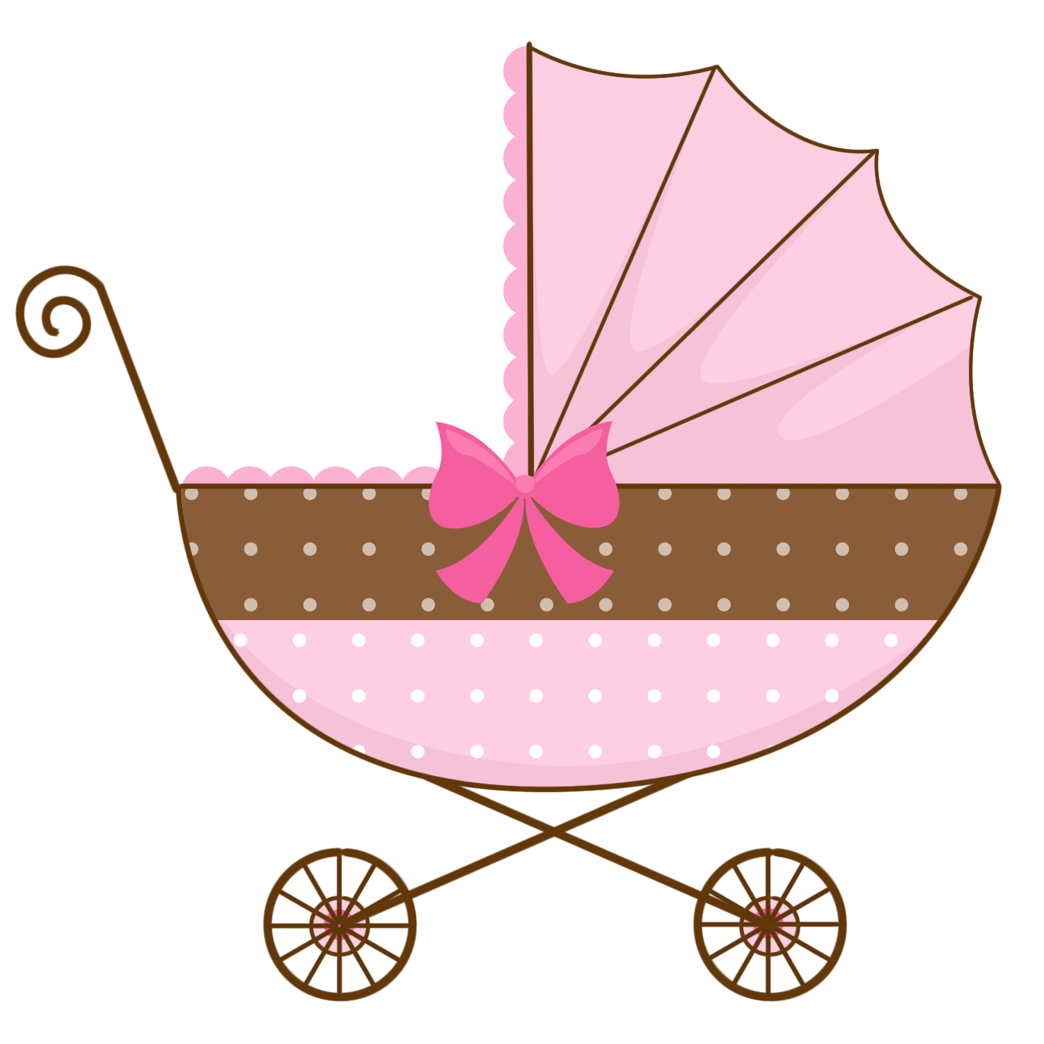 collection of pink. Wagon clipart baby