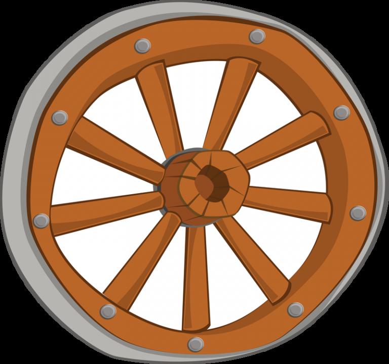 Wheel clip art microsoft. Wagon clipart border
